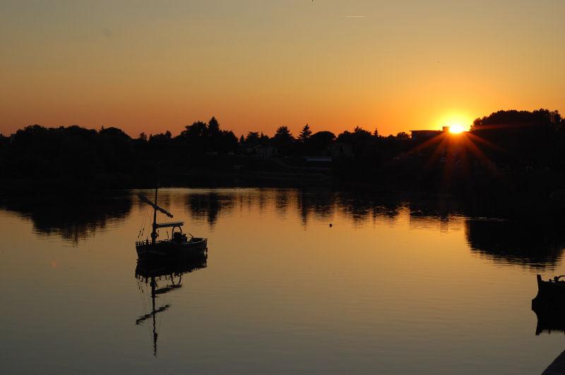 Sunset over Dordogne at Bergerac