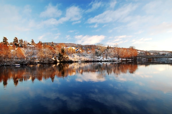 Winter by River Tay, Perth, Scotland