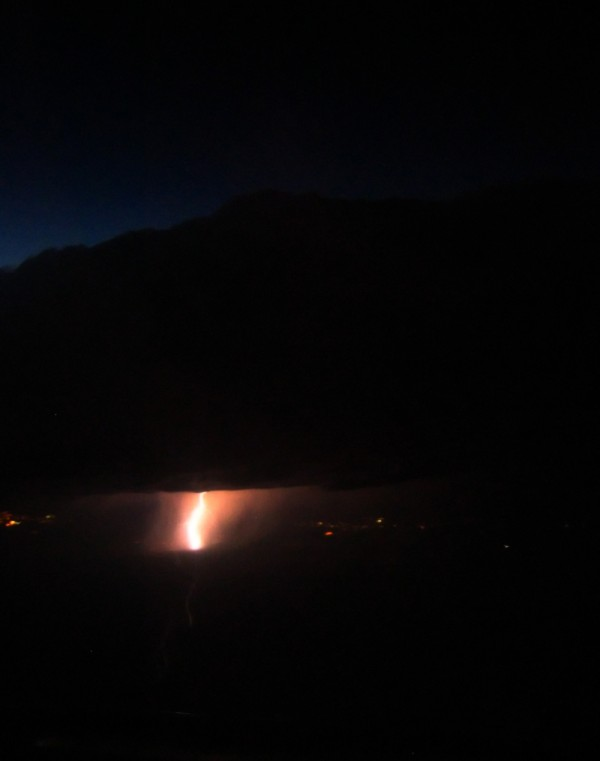 lightning at takeoff