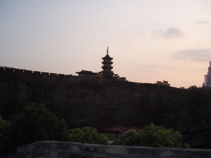 Temple along the city wall