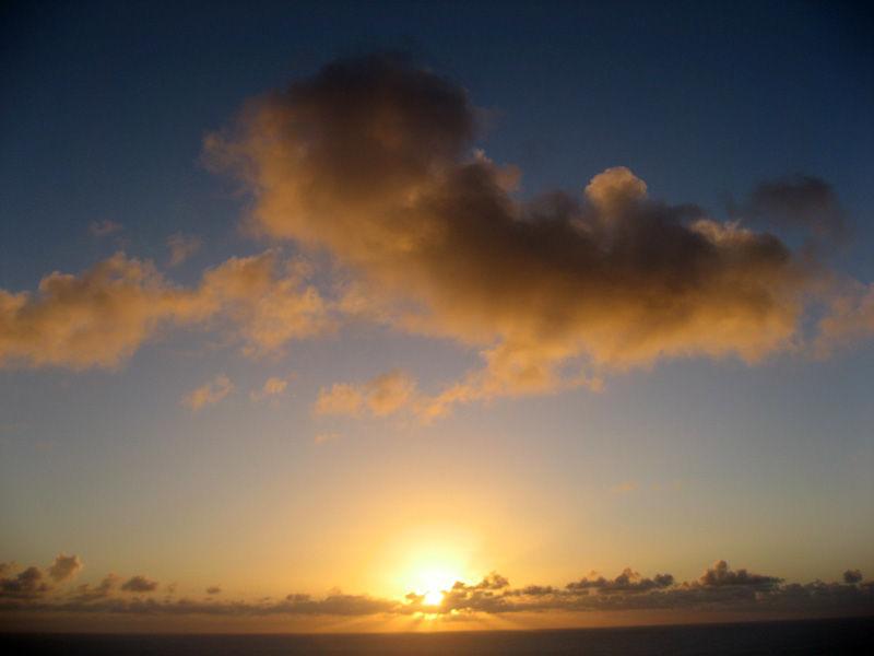 Sunset at Bonin island