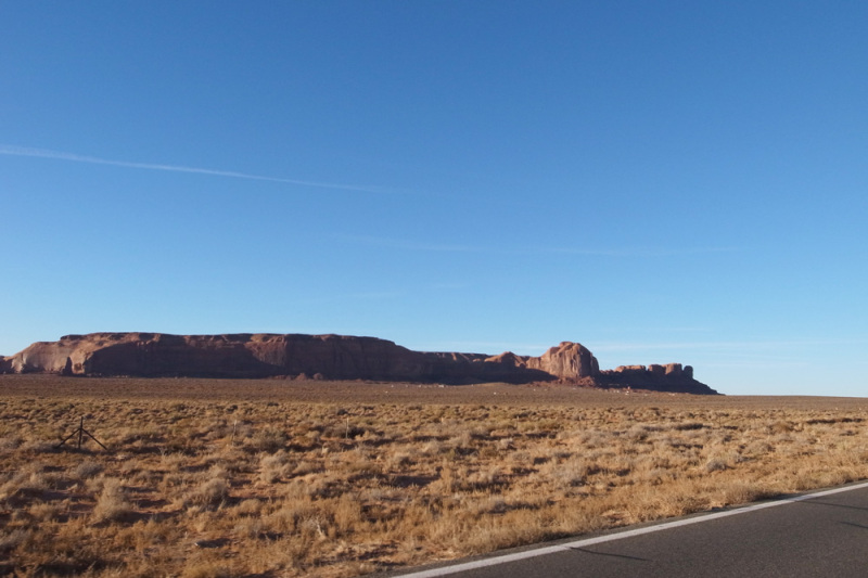 on the way to the Monument valley , Utah USA