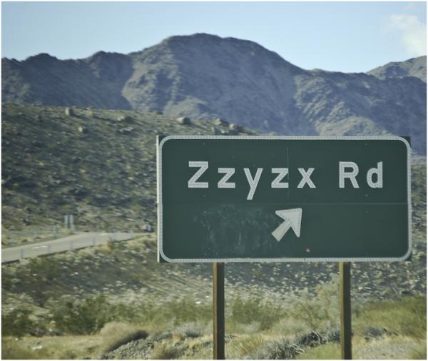 Zzyzx Road?