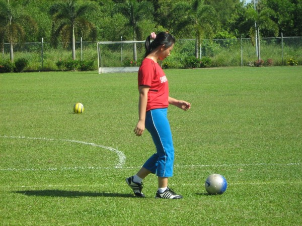 The Girl With Football