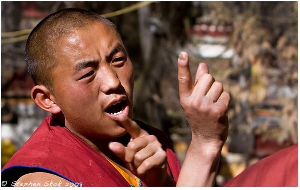 lhasa Tibet Jokhang Temple Jokang monk Seara monas