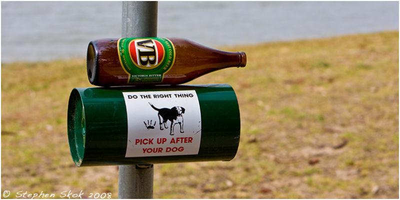 Narooma Australia beer dog poo