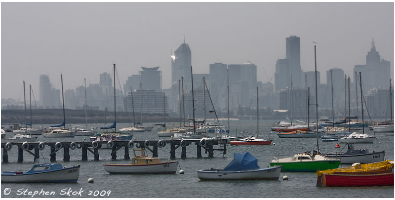 Melbourne bushfire Williamstown