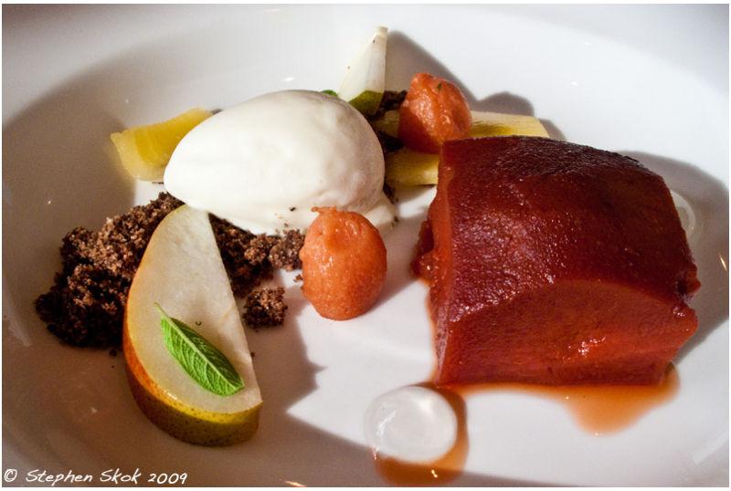 food art lunch winery dessert quince kiwi sweet