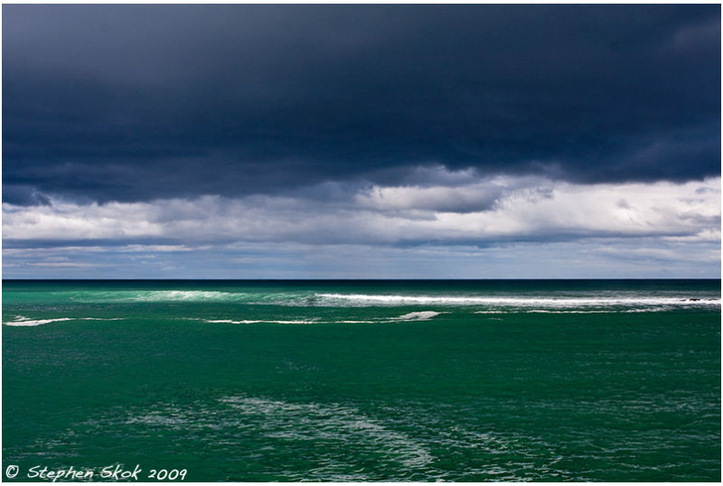 weather coast ocean aireys victoria australia