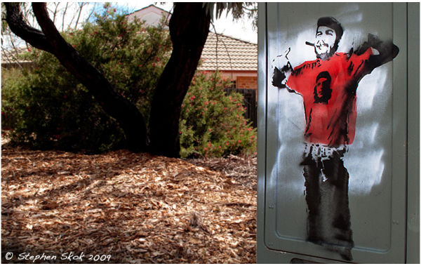 Che Guevara Canberra Australia street G10 stencil