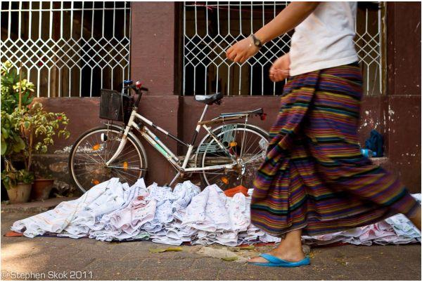 Burma Myanmar Yangon Rangoon  street