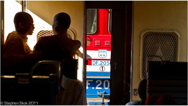 Burma Myanmar Yangon Rangoon Mandalay rail street