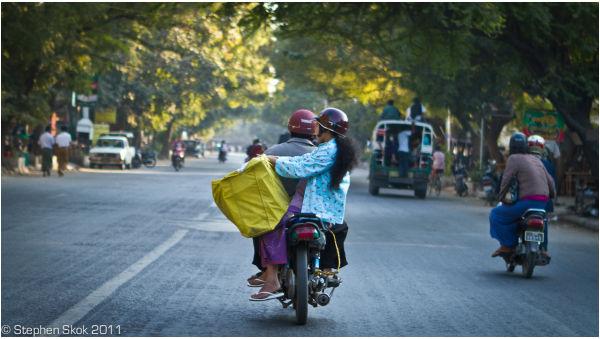 Burma Myanmar Mandalay street
