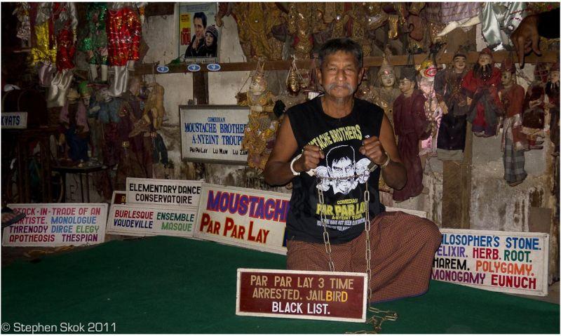 burma myanmar mandalay street Moustache Brothers