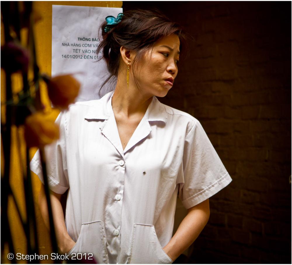 Vietnam, Saigon, restaurant, worker, street