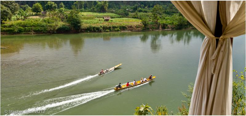 Laos, Luang Prabang, sanctuary, elephant, river
