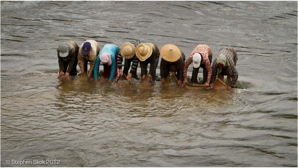 Laos, Luang Prabang, sanctuary, fishing, river
