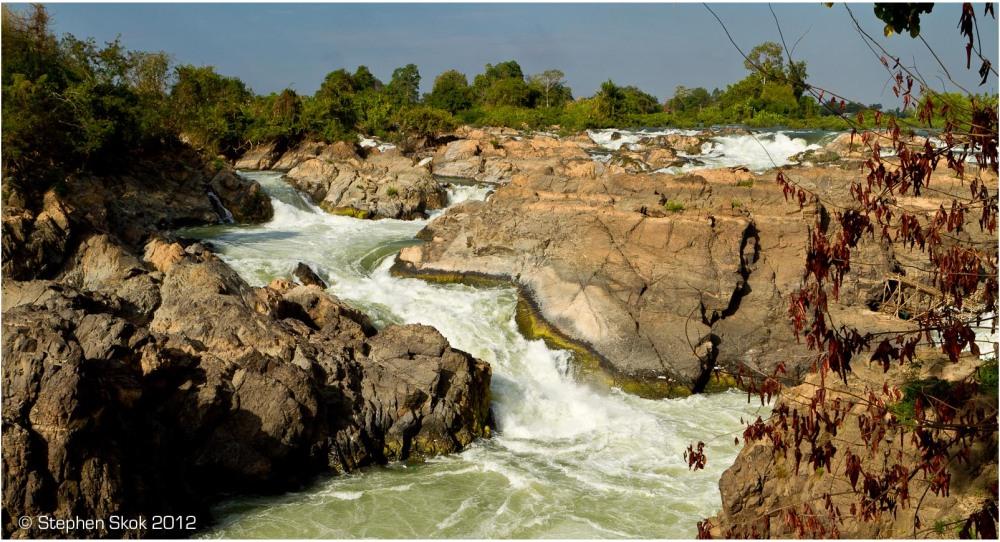 Si Phan Don, Laos, Mekong, river, rapids