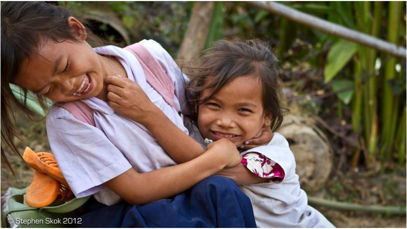 Laos,Si Phan Don,Don Khon, Mekong, river, street