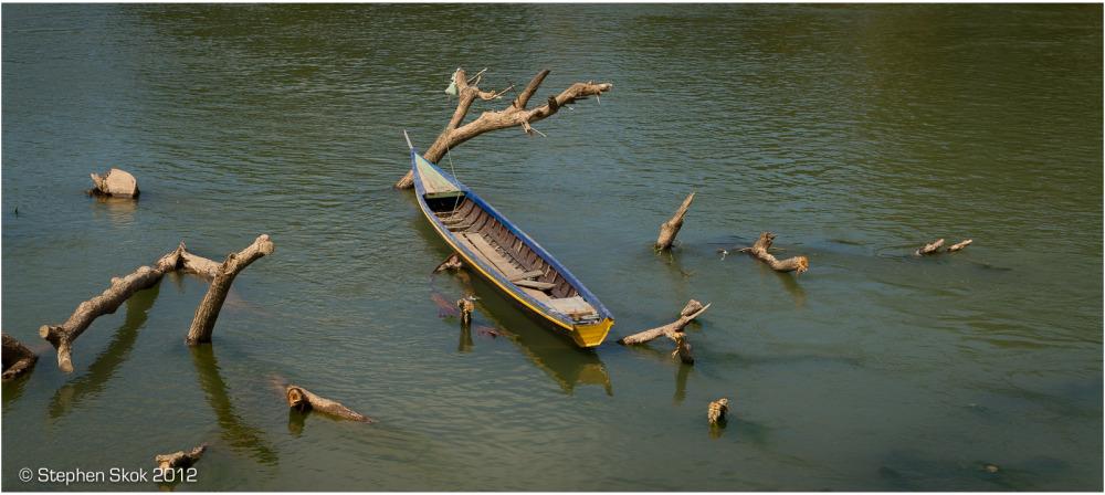 Laos,Si Phan Don,Don Det, Mekong, river, street,