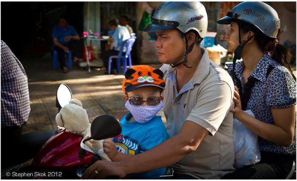 Vietnam, Saigon, family, motorbike, street
