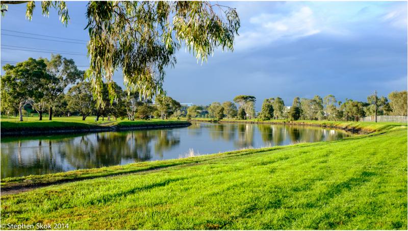 Australia, Melbourne, Maribyrnong, river, bikepath