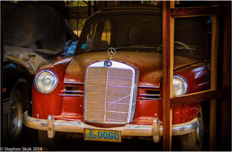 Laos, Luang Prabang, Mercedes Benz, car, 1975