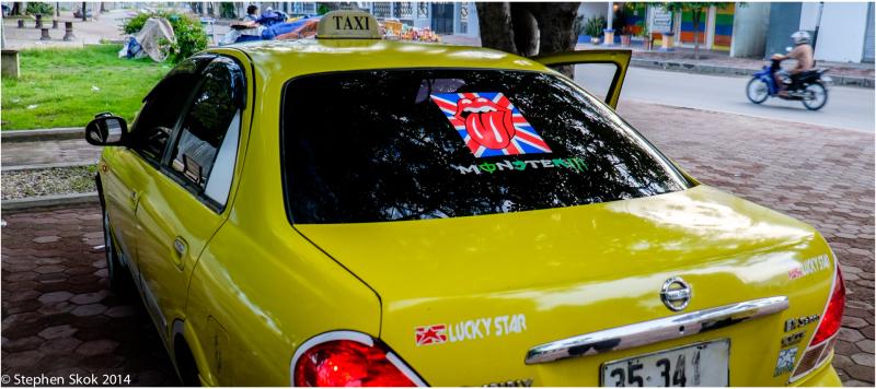 Dili, Timor Leste, taxi, Rolling Stones,