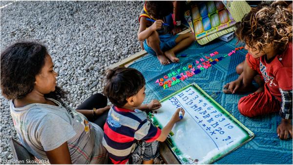 Dili Timor Leste mother child literacy education