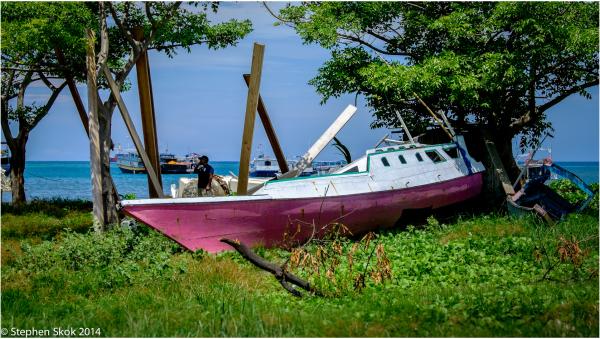 Dili Timor Leste beach boat