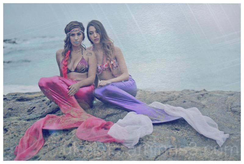 Lost Mermaids, Beach, Ocean, Cliff, Sisters
