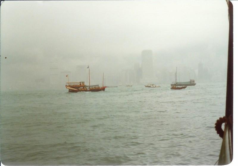 Hong kong in the mist