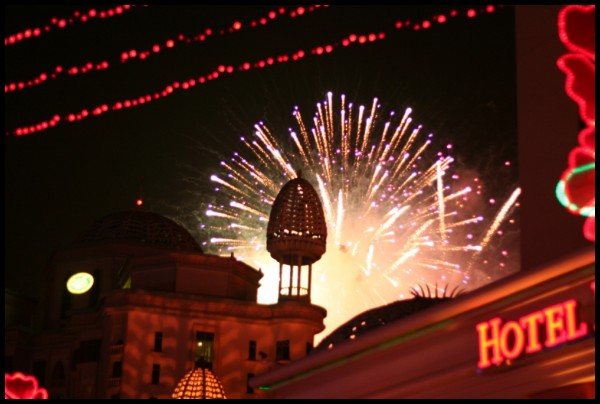 Merdeka fireworks at Pyramid
