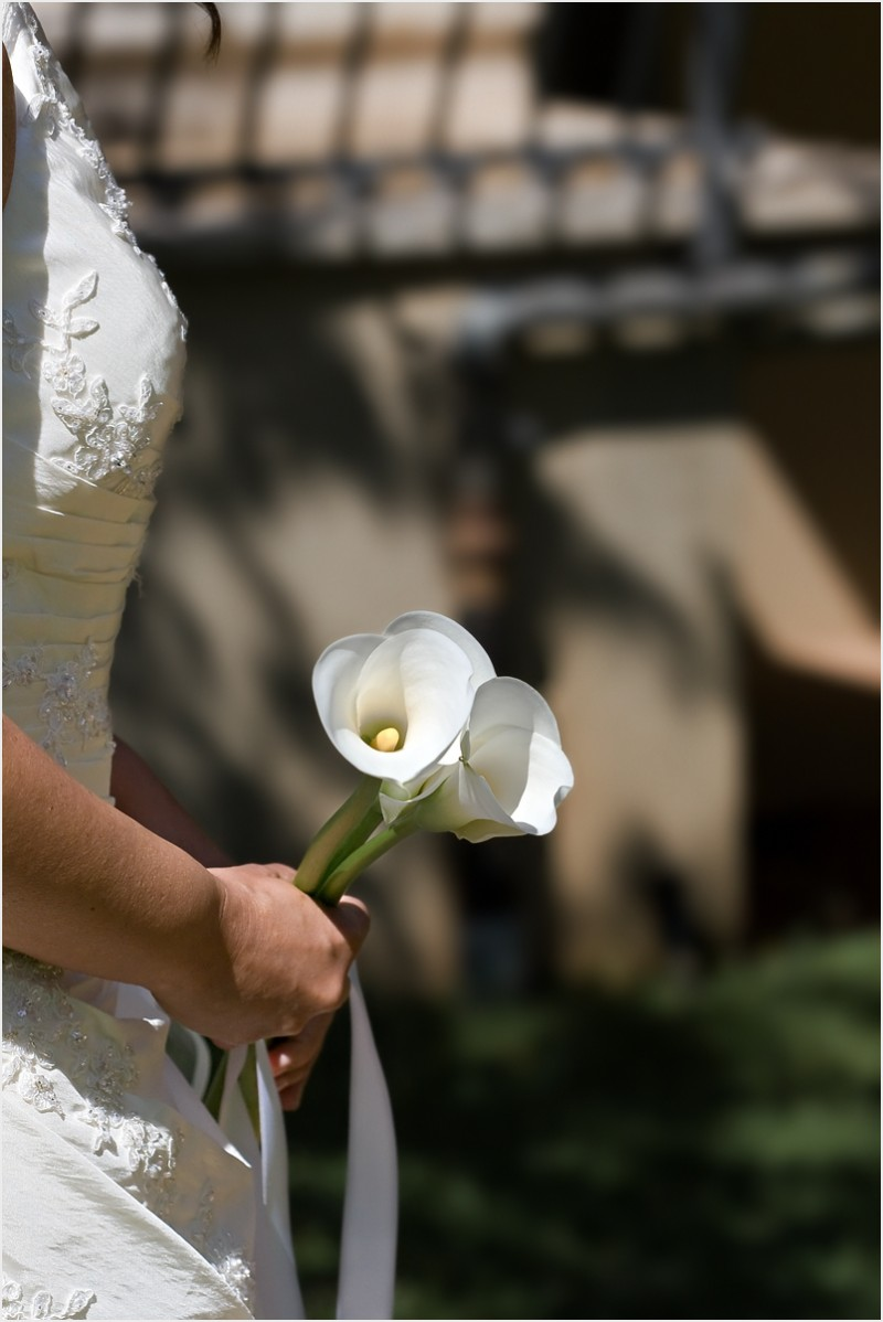 A bride with her flowers