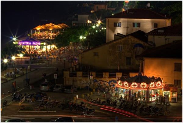 Follonica by night, HDR