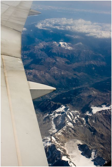 Alps from a plane