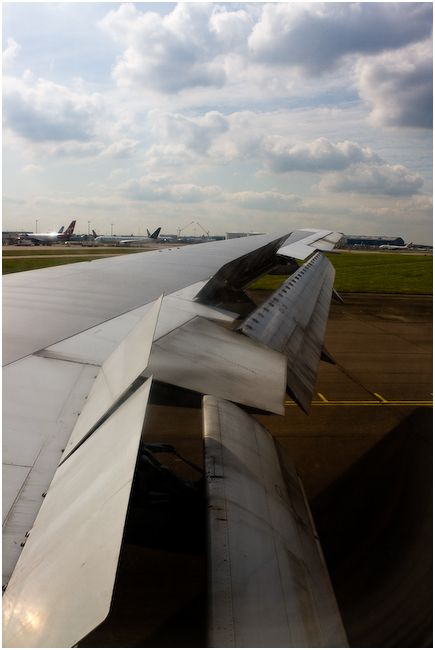 Landed at Heathrow airport