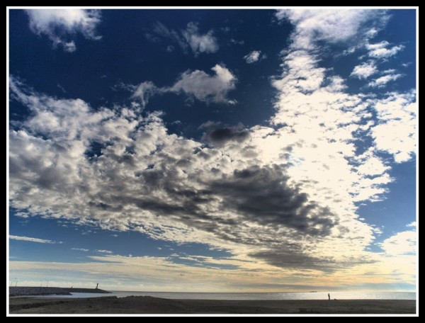 The sky in the beach