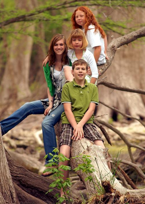 Kids portrait, Cibolo Nature Center, Boerne, Texas