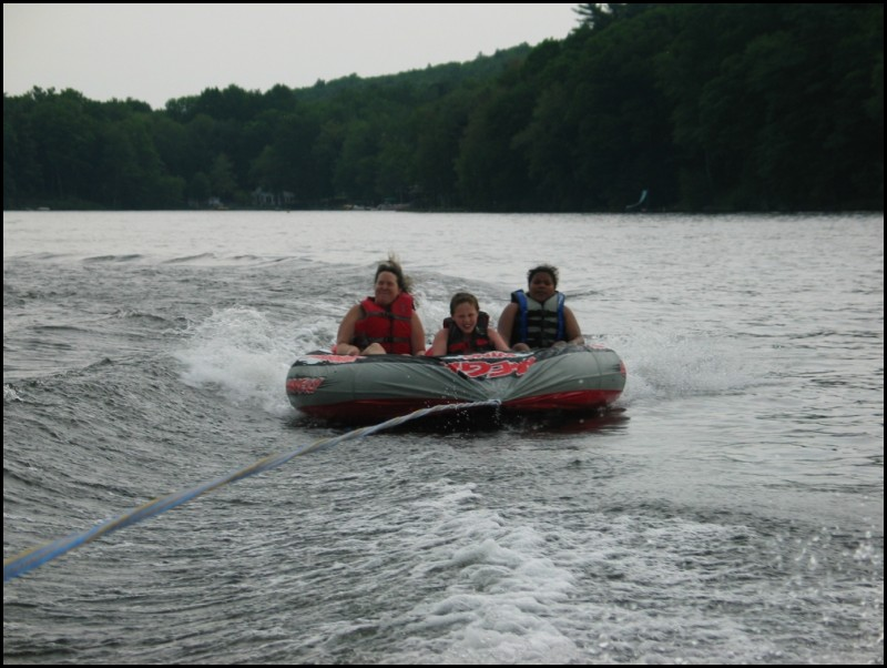 Tubing on the lake