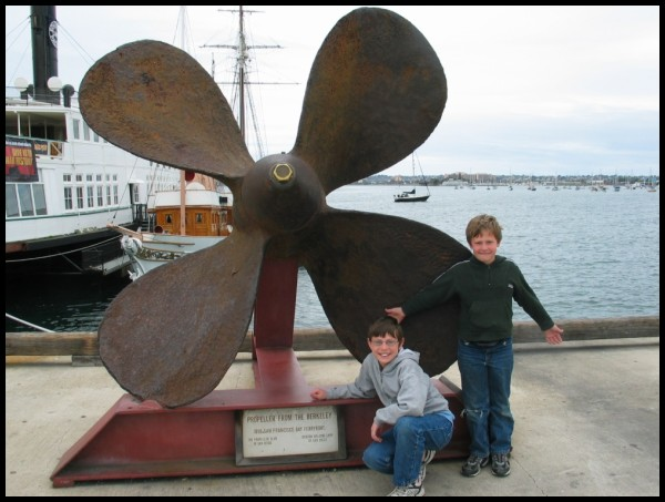 Propeller from a large ship