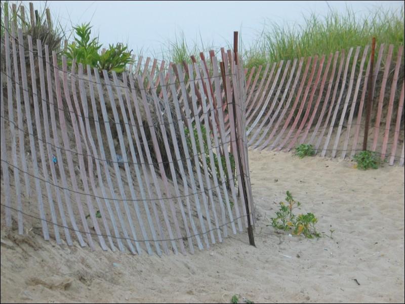 Fence at Misquamicut Beach