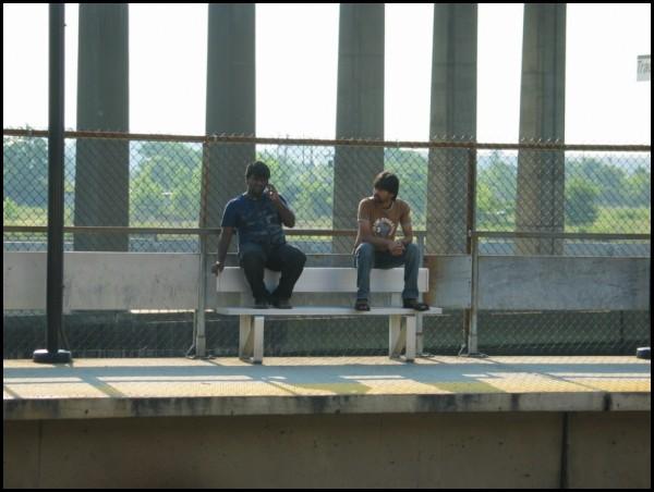 Men on Bench