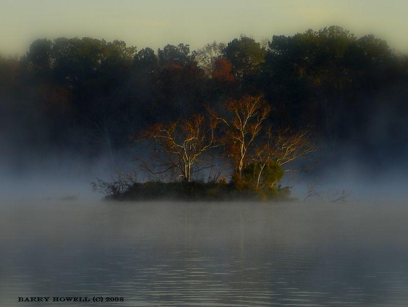 Misty morning on the San Jacinto River.