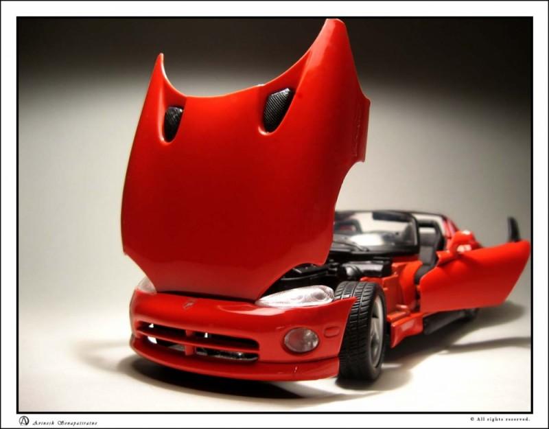 Model sports car