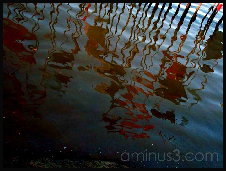 flags, reflections, water, colours