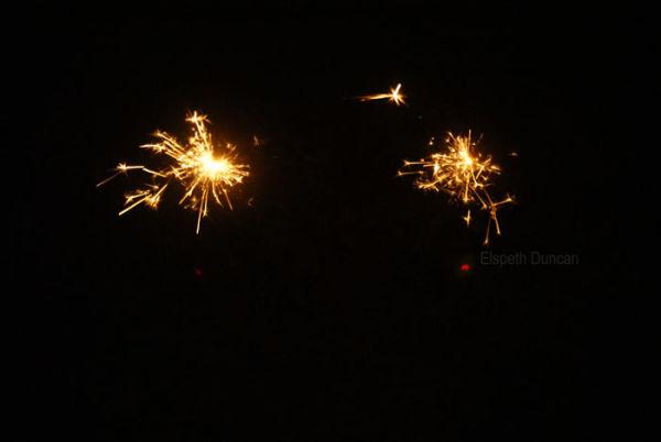 Sparklers on last night of 2008