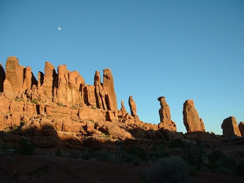 Moon Over Arches
