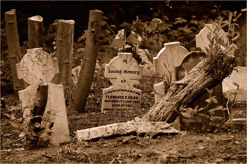 Tomb in a cemetary