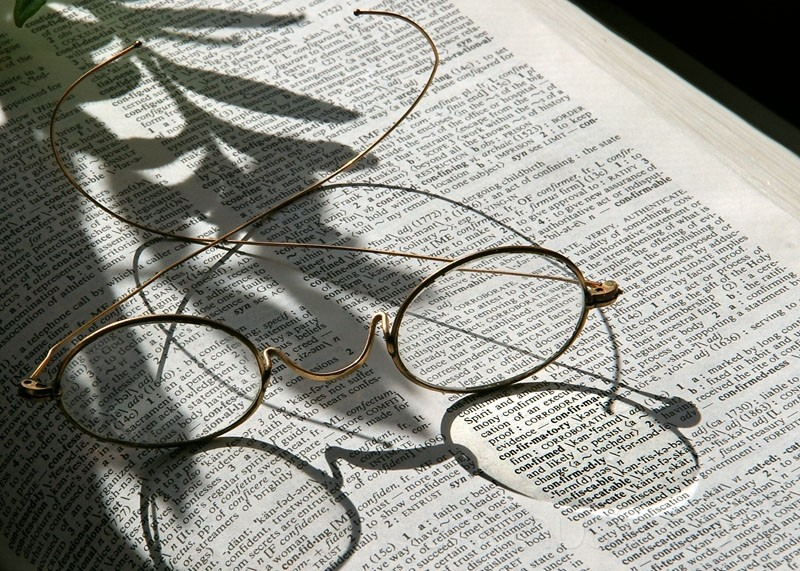 confirmed dictionary entry and glasses